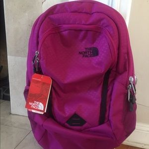 The North Face Backpack Magenta new w tags !